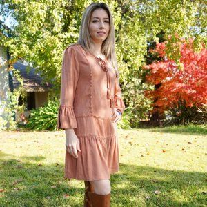 Fall and Spring Dress with Tassels